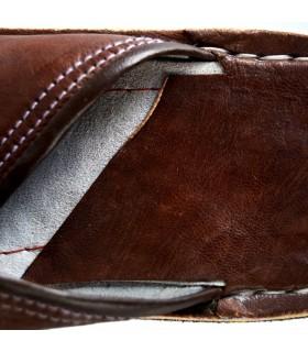 Ponta redonda chinelos de pele - várias cores - novidade