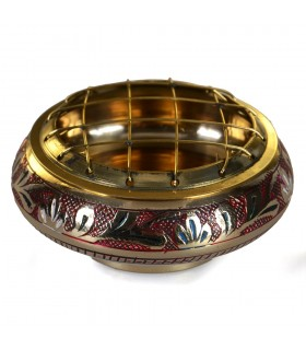 -Grilles - 7 cm engraved bronze censer
