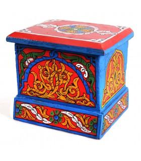 Caixa árabe - feita e mão - pintado de cores vivas - qualidade
