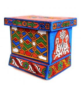Cajita Árabe - Hecha y Pintada a Mano - Colores Alegres - Calidad