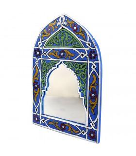 Miroir andalou peintes à la main - diverses couleurs - 29 cm