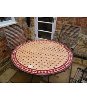 Mesa mosaico artesanal - artesanal - vários tamanhos e cores