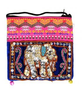 Funda Lentejuelas Colores - Diseño Elefante - Colgante - Modelo 2