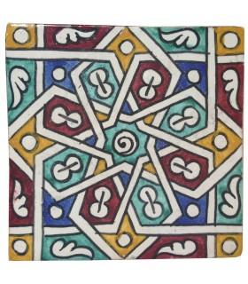Al-Andalus - piastrelle artigianali 14,5 cm - disegni vari - - modello 6