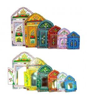 Espelho Andalusí pintados à mão - várias cores - 6 tamanhos