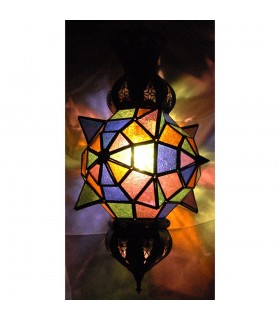 Lamp glass Alba Lucero colors - Andalusian - Arabic