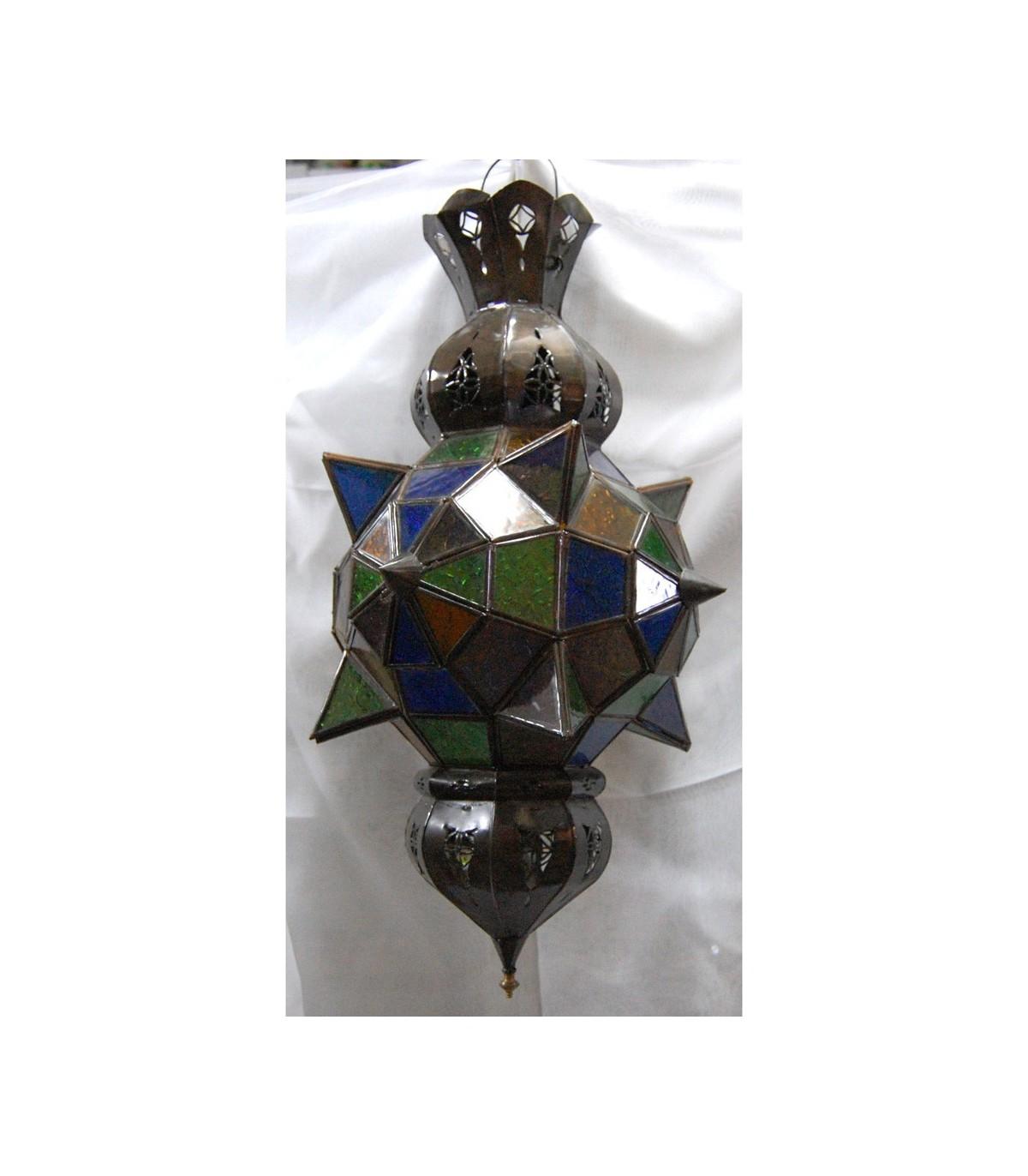 L mpara cristal lucero de alba colores andalus rabe - Lamparas de cristal de colores ...