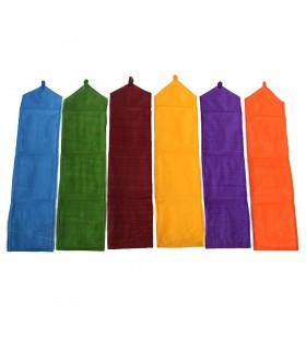 Яркий пэчворк ковер - хранятся карты - Самоделки - 75 x 19 см - различные цвета