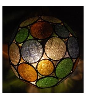 Esfera de cores de vidro da lâmpada - árabe - andaluza - 2 tamanhos