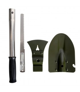 Kit Supervivenvia field - axe, shovel and Sierra - Adaptable handle