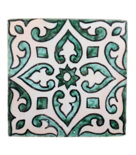 Al-Andalus - 10 cm - several designs - handcrafted tile - model 31