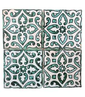 Al-Andalus - 10 cm - several designs - handcrafted tile - model 31