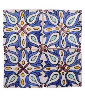 Al-Andalus - carreaux faits à la main 10 cm - plusieurs motifs - - modèle 32