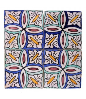 Al-Andalus - 10 cm - several designs - handcrafted tile - model 33