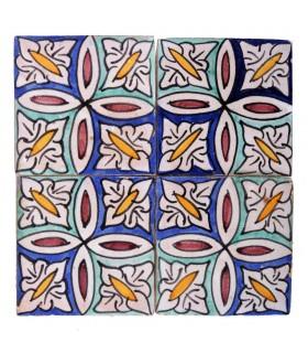 Azulejo Andalusí - 10 cm - Varios Diseños- Artesanal- Modelo 33