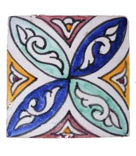 Azulejo Andalusí - 10 cm - Varios Diseños- Artesanal- Modelo 34