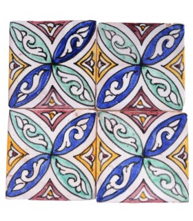 Al-Andalus - 10 cm - several designs - handcrafted tile - model 34