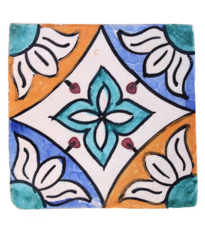 Azulejo Andalusí - 10 cm - Varios Diseños- Artesanal- Modelo 35