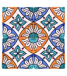 Al-Andalus - 10 cm - several designs - handcrafted tile - model 35