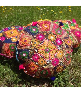 Yoga Cushion - Crafts - Decorated Indian - Includes Stuffed -40