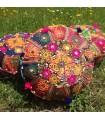 Cojín Yoga - Redondo- Decorado Indio - Incluye Relleno -40 cm