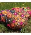 Yoga Cushion - Round - Decorated Indian - Includes Fill -40 cm