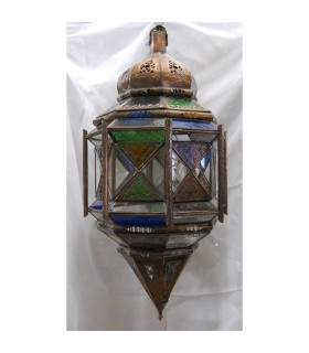 Lâmpada vidro colunas grandes - andaluz - árabe