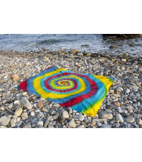 Fabric cotton India - spiral Rainbow - NOVELTY - 120 x 220 cm
