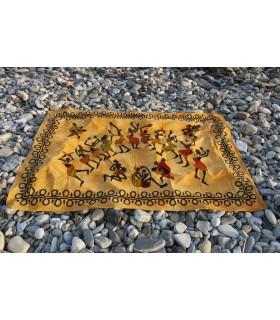 Stoff Baumwolle afrikanischen Indien-Fiesta - orange - 140 x 210 cm
