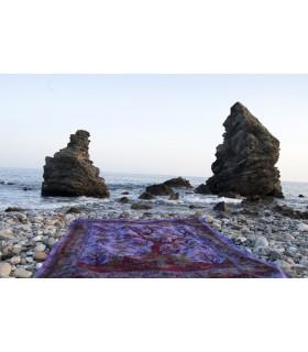 Tessuto cotone India-albero della Vida-Quesería - 210 x 140 cm