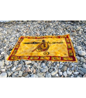 Ткань хлопок Индия - музыкант диджериду - 140 x 210 см