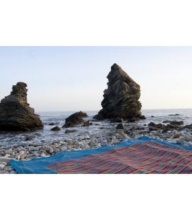 Tela Algodón - Estampado Africano - Rombos - Calidad Especial-220 x256 cm