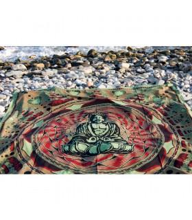 Tessuto cotone India Lotus - Budha Mosaico-Quesería - 240 x 210 cm