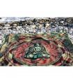 Tela Algodon Loto India- Budha Mosaico-Artesana-240 x 210 cm