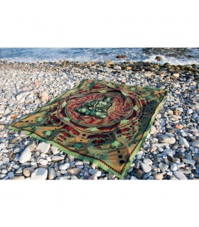 Material Baumwolle Indien - Budha Mosaico-Artesana - 140 x 210 cm