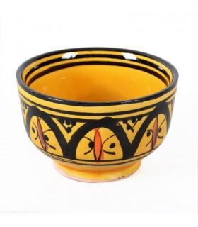 Mini ciotola droghiere arabo-ceramica-dipinto mano multiplo colori-8 cm