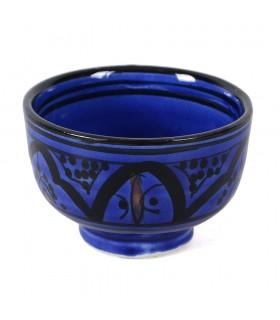 Mini bol arabe épicier - poterie - peint à la main - diverses couleurs - 8 cm