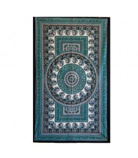 Stoff Floral-Artesana Baumwolle-Indien-Chandni - 140 x 210 cm