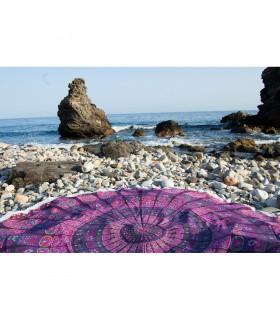 Круглая хлопок ткань - Индия - полотенце - скатерть - цветочный дизайн -