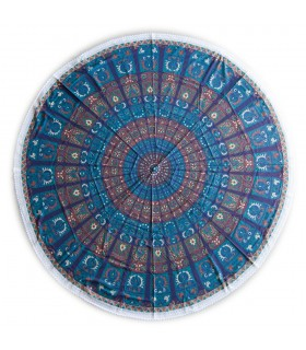 Tela Algodón Redonda - India - Toalla - Mantel - Diseño Chandni - 2 m