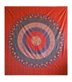 Tela Algodon India - Mandala Floral - Artesana - 210 x 240 cm
