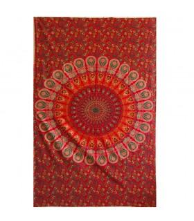 Artisan de tissu coton Inde - elephant Imperial - - 210 x 140 cm