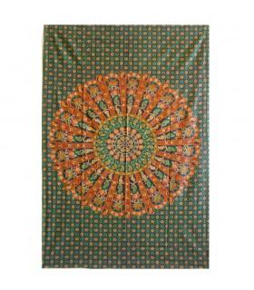 Fabric cotton India - elephant Imperial - artisan - 220 x 240 cm