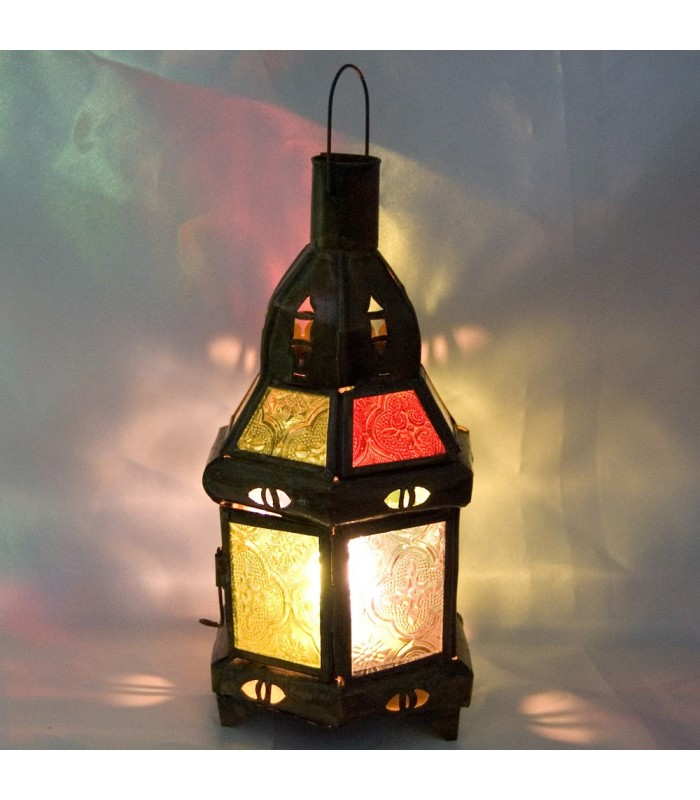 Farol -Hexagonal - Multicolor - 22 cm - Grande