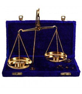Precision weighing Gr. - Mg. - Velvet or Wood Pouch - Bronce