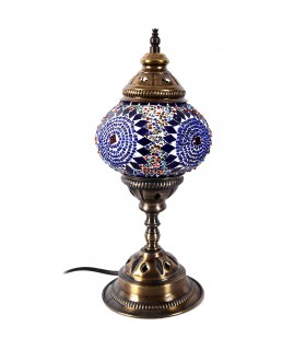 Lampada turco - mosaico di terreno - vetro Murano-