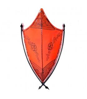Appliquer le henné - modèle Bouclier - 43 x 24 cm