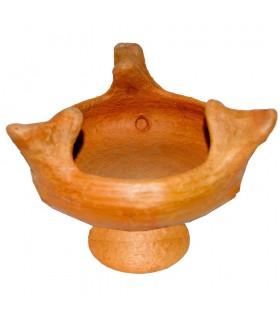 African Clay Censer - 24 cm - Brasero - Artisan