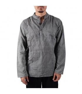 Verão perfeito de algodão longa camisa - várias cores-