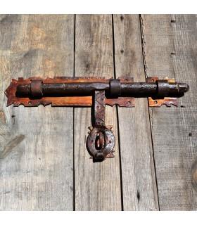Fermo in ferro battuto artigiano - grande - 31 x 17 cm